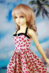 SD Watermelon Dress by kawaiimon