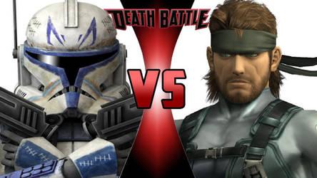 Captain Rex vs. Solid Snake by OmnicidalClown1992