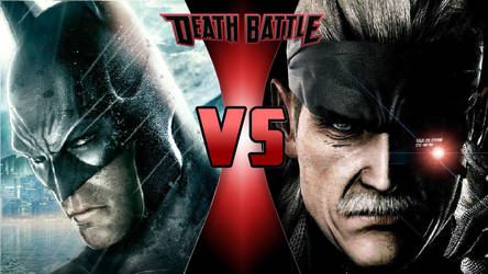 Batman vs. Solid Snake by OmnicidalClown1992