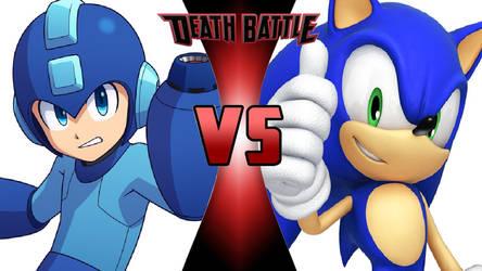 Mega Man vs. Sonic the Hedgehog by OmnicidalClown1992