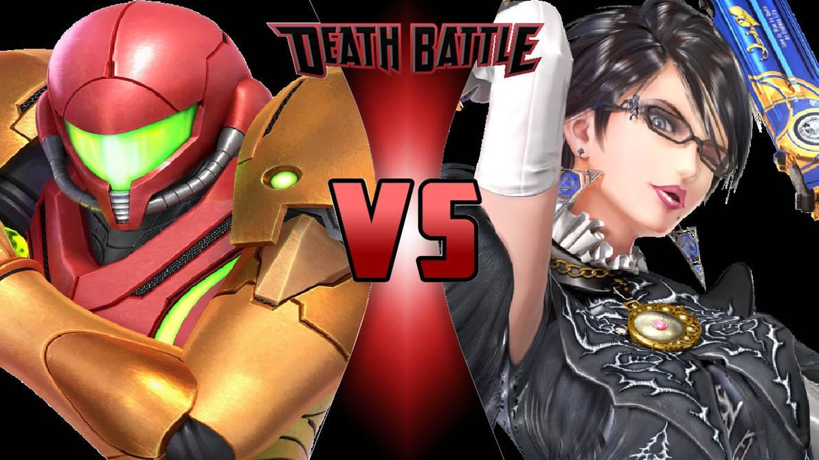 Samus Aran vs. Bayonetta by OmnicidalClown1992