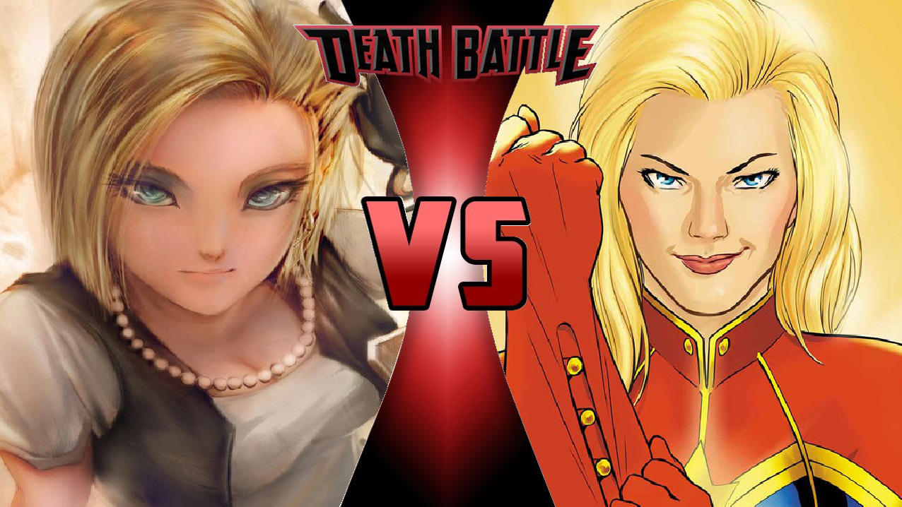 android 18 vs. captain marvelomnicidalclown1992 on deviantart