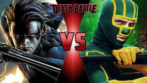 Nightwing vs. Kick-Ass by OmnicidalClown1992