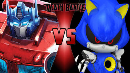 Optimus Prime vs. Metal Sonic by OmnicidalClown1992