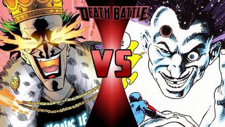 Emperor Joker vs. Mad Jim Jaspers by OmnicidalClown1992