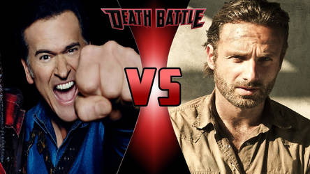 Ash Williams vs. Rick Grimes by OmnicidalClown1992