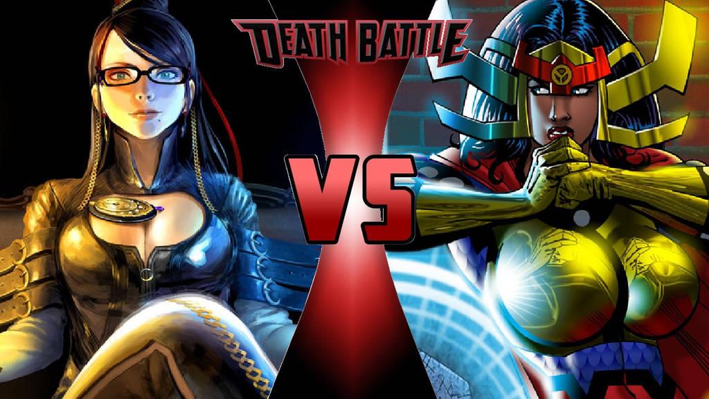 Bayonetta vs. Big Barda by OmnicidalClown1992