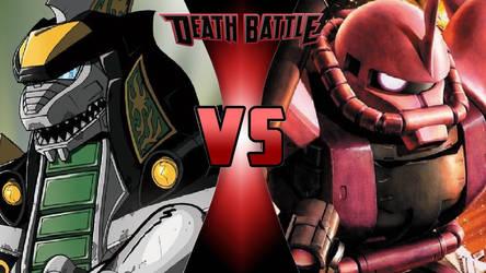 Dragonzord vs. MS-06S Zaku II by OmnicidalClown1992