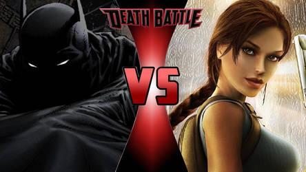 Batman vs. Lara Croft by OmnicidalClown1992