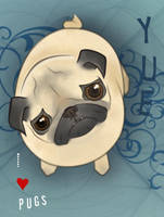 I HEART Pugs by yuedemimi