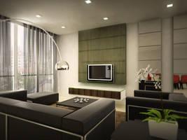 Condominium Living Room by Erniez