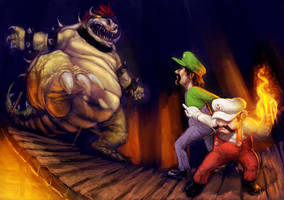 Mario's First Battle by DiegoSanches