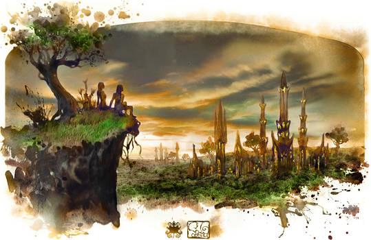 Prologue.Taurtiris- elven city by Sasha3