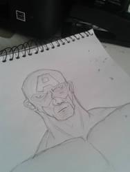 Capitan America sketchbook by LordeSnow