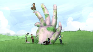DAS A BIG OL HAND RIGH DAH by MagicalPouchOfMagic