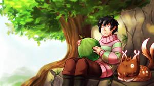 Resting Melon by MagicalPouchOfMagic
