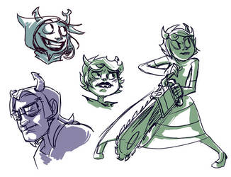 troll doodles by wafflebat