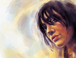 nehir portrait color by CAGILATAS