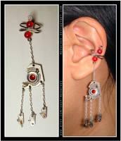 Steampunk Tripod ear cuff by Meowchee