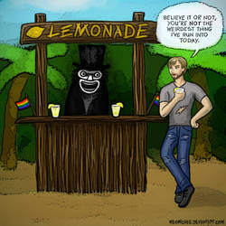 The Babadook running a lemonade stand by Meowchee