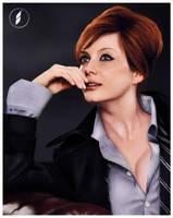 Christina Hendricks Portrait by namiociarz