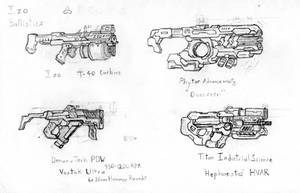 Assorted Small Arms by CryonIndustries