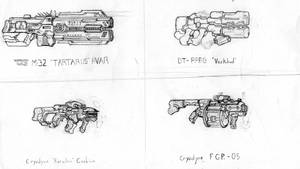 Assorted Small Arms 2 by CryonIndustries