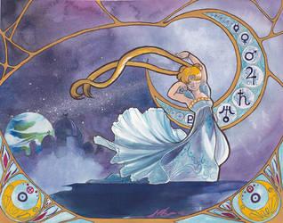 Princess Serenity Nouveau by cyanineblu