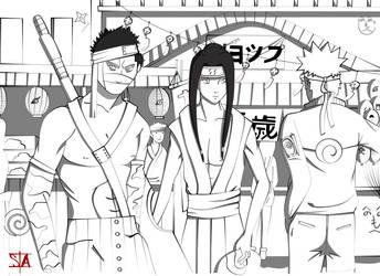 Naruto meets Haku and Zabuza-shadow by swayanouk