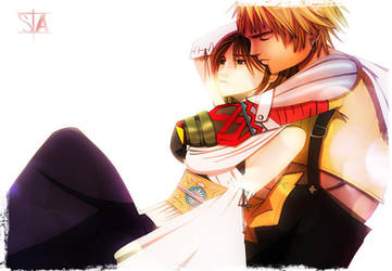 Yuna and Tidus FFX love story by swayanouk