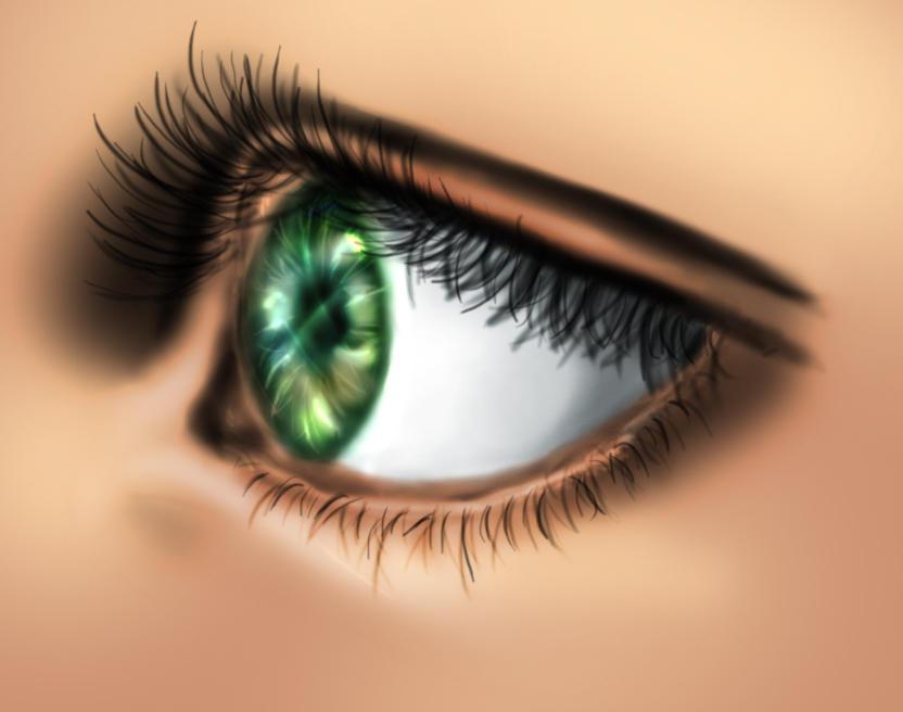 Eye drawn in PS by RoseSan