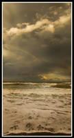 Beach rainbow by xedgerx