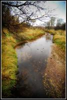 creek in fall by xedgerx