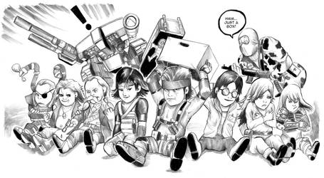 Lil' Metal Gear Solid by cluedog