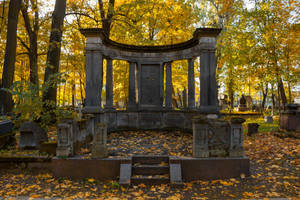 Autumn Cemetary by ManicHysteriaStock