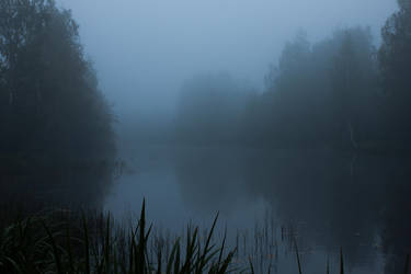 Foggy Lake Twilight 3 by ManicHysteriaStock