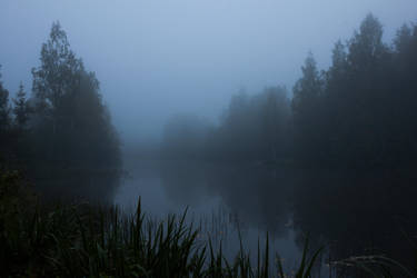 Foggy Lake Twilight 4 by ManicHysteriaStock