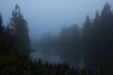 Foggy Lake Twilight 5 by ManicHysteriaStock