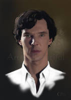 A Painting of Sherlock by jht888