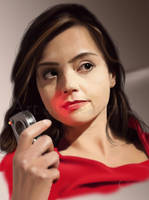 A Painting of Dr Who's Clara Oswin Oswald by jht888