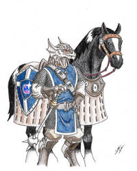 DragonBorn Eldritch Knight (Commission 161007) by Xhydralisk