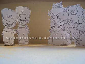 Mario PaperDolls by MyDeathTHEKid