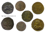 230 Antique Coins by Tigers-stock