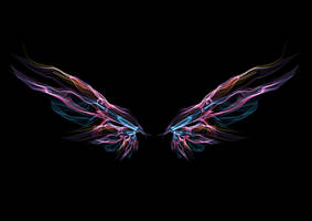 1059 Pink Aurora Wings by Tigers-stock