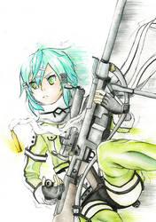 Sinon (Sword art online) by PocketKaori