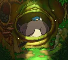 Sleepy Totoro by DennisBell