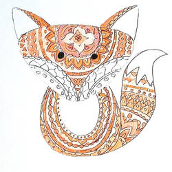 BoHo Fox Colored by RowanArtist