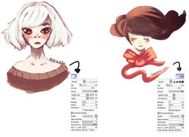 Paint tool sai/tools- Brushes by Lamare69