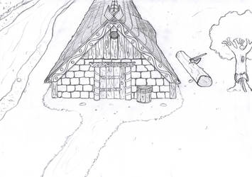 Viking longhouse by Hingetsugu