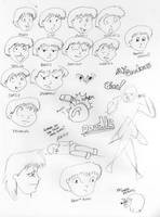 Facial Expressions and Doodles by JimmyDrawsArt